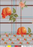 印刷される新しいデザインは模造するPVC透過テーブルクロスの工場(TJ0098)を