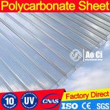 folha protegida de 6 & de 8mm e elevada UV do policarbonato da Gêmeo-Parede da transmissão clara