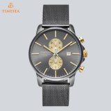 Vigilanza del movimento degli uomini svizzeri di lusso del cronografo sull'orologio dell'acciaio inossidabile di vendita con la fascia 72110 della maglia