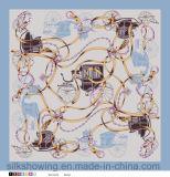 Qualität kundenspezifischer Silk Quadrat-Schal des Satin-2017