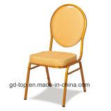 Cadeira Stackable do banquete de aço da parte traseira redonda