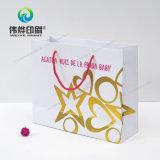 Sacchetto di carta del regalo di stampa di alta qualità con la timbratura calda di marchio