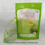 Reißverschluss, der Plastiktasche für Kokosnuss-Zuckernahrung packt