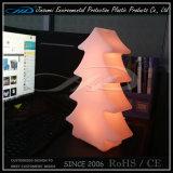Color moderno plástico material del PE que cambia la luz del árbol de navidad del LED