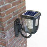 Garden Patio Path Wall Mount Gutter Fence Lights Lâmpada de segurança Solar Garden Light
