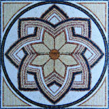 Het natuurlijke Marmeren Mozaïek van de Kunst met het Beeld van de Bloem voor de Decoratie van de Vloer