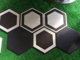 健全な200*230mm White&Black Athroomの六角形6のコーナーの多角形の陶磁器の床タイル
