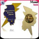 Chapado en oro Forma personalizada de Eagle Calidad Militar Insignias