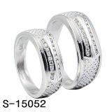 순은 반지는 CZ 약혼 반지 한 쌍 반지를 놓는다