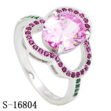 Imitation Jewelry Silver dia. moon ring Factory Wholesale