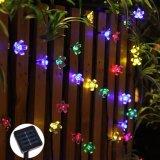 50 indicatori luminosi leggiadramente LED della stringa solare del LED 7m per esterno
