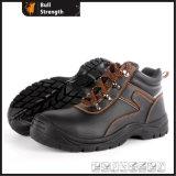 Calçados de segurança de couro preto de venda quente (sn1667)