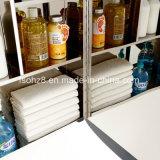 Мода мебель из нержавеющей стали зеркала в ванной комнате шкаф с зеркалом (7028)