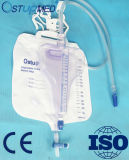 400+2000ml十字の排水栓が付いている使い捨て可能なPVC尿のメートル袋
