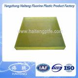 75-95 costa uma folha do poliuretano feita com material transparente amarelo do Polyether
