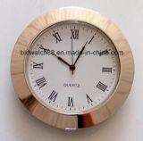 Custom 65мм малых часы вставки Gold тон Silver раунда