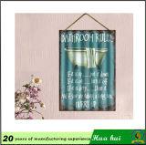Zoll geprägte Zinn-Zeichen, dekorative kleine dünne Metallplatten C20