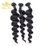 Commerce de gros lâche non transformés vague profonde 100 % de cheveux humains avec des faisceaux