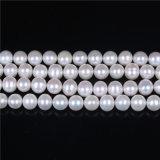 AAの品質9mmの丸型の近くの10mm淡水の真珠の繊維16インチ