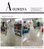 Новой платья венчания прибытия европейской вышитые конструкцией