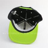 Sombrero verde del casquillo del Snapback del bordado 3D de la fluorescencia