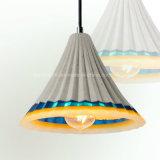 مبتكر [نورديك] يعيش غرفة مطعم فنية إسمنت جير خرسانة راتينج يشعل لون [دروبليغت] يعلم ضوء