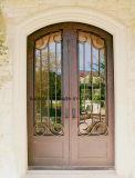 工場価格のカスタム美しい錬鉄の前ドア