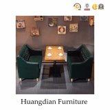 عادة مطعم أريكة وطاولة محدّد مقصورة مقادة مع أزرار ([هد656])