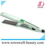 Qualité 230&deg ; Fer plat de cheveu nano de C avec le redresseur de cheveu d'écran LCD