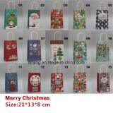 BW213 la moda de Navidad Bolsa de regalo de papel con la manija