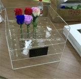 Custom de acrílico de alta calidad caja de regalo de flores