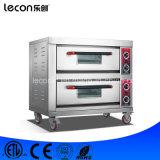 Het industriële Dubbele Brood die van de Dienbladen van Dekken Dubbele Elektrische Oven bakken