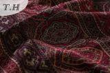 2016ソファーの布(FTH31900)のための赤いおよびブラウンのリングのバックルファブリック