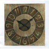 Misero - orologio di parete quadrato elegante del metallo