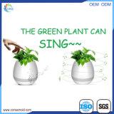 Planta elegante de la planta de la música de la maceta del altavoz conmovedor de Bluetooth