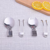 Cuillère pliable campante campante de vaisselle de cuillère