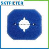 Раскройте сетку фильтра фильтровальной губчатой пластинки пены клетки