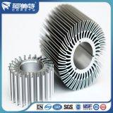 Anodizado de plata de color ronda disipador de calor para radiador