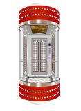 Elevador de la observación (tipo del semicírculo) con la pared de visita turístico de excursión