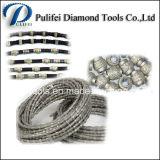 Scie à fil de diamant pour machine à découper en fil de pierre à base d'acier