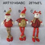 Décoration restante Toys-3asst de Noël de Noël de bonhomme de neige de Santa