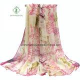 Signora dipinta a mano Fashion Silk Scarf dello scialle della spiaggia della protezione solare