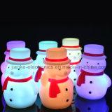 De LEIDENE van de Sneeuwman van Kerstmis Lamp van de Nacht met Afgedrukt Embleem (4027)