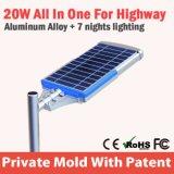 Boîtier en aluminium approuvé de RoHS de la CE allumant la fuite solaire de rue de DEL
