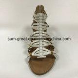 Sandalias de las mujeres con los zapatos PU superior informal con buena calidad