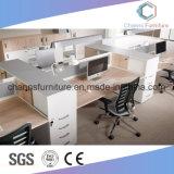 Sitio de trabajo de madera del vector de la oficina del escritorio de los muebles modernos