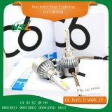 Lampadina luminosa eccellente del faro del faro H1 H3 H4 H7 H11 9006 9007 pronti per l'uso LED dell'automobile di C6 12V LED
