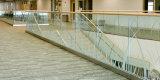 옥외 발코니 U 채널 유리제 방책, 알루미늄 U는 층계를 위한 채널 난간의 기초를 두었다