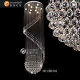 Pendentif en cristal moderne Pendentif à anneaux ronds Lampe suspension pendulaire marocaine Om9100