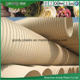 Buena calidad de PVC Tubo de plástico ondulado de doble pared para drenaje